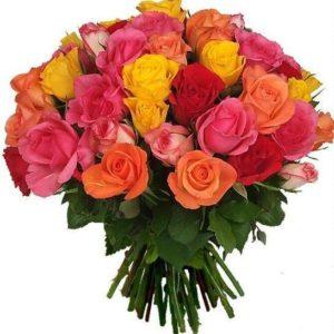 multicolor de 40 rosas cortas  100€