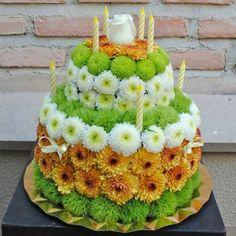 tarta de flores 50€