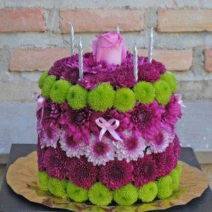 tarta flores 40€